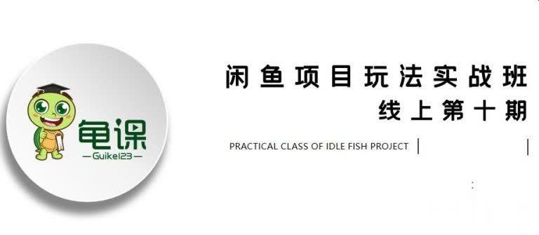 宅男龟课·闲鱼项目玩法实战班第10期第1节:行业市场分析及前期准备细节(无水印)