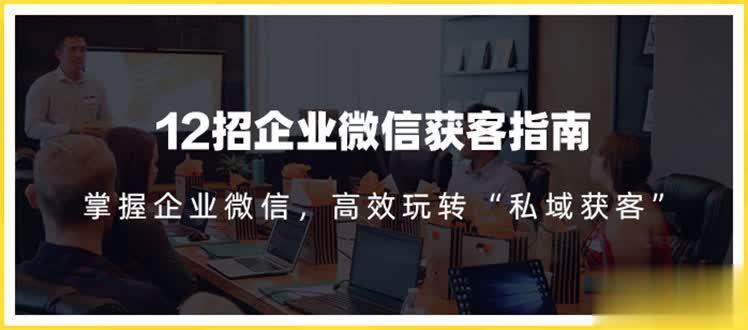 12招企业微信获客指南:链接11亿微信用户,提前把握企业新机遇